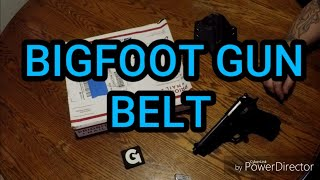 BIGFOOT LEATHER GUN BELT Unboxing & Initial Impressions