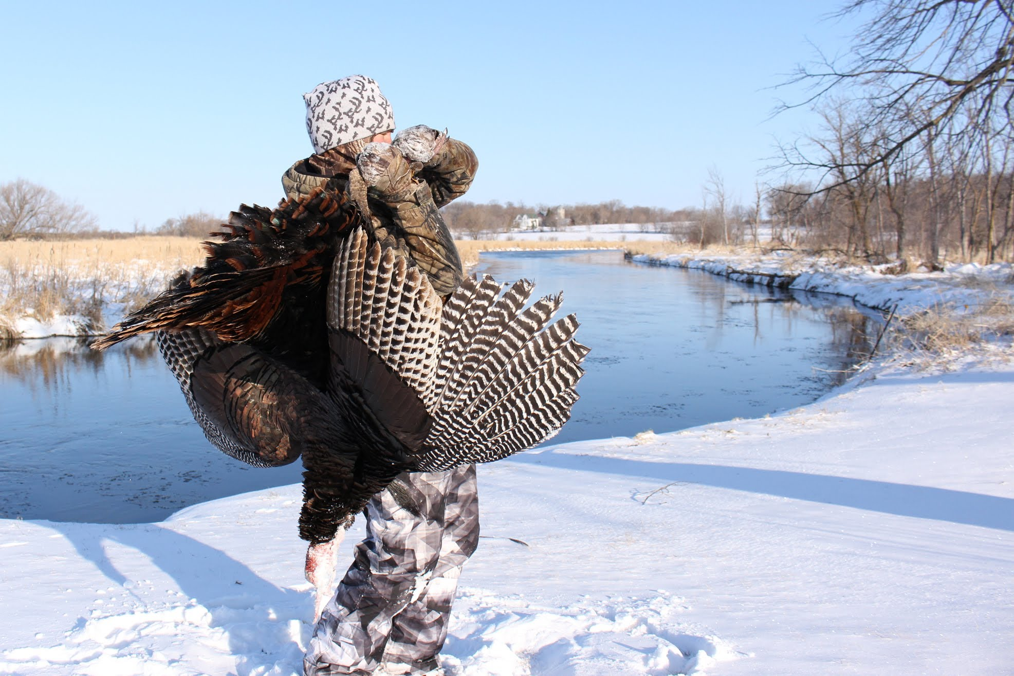 Spring Snow and Turkeys -Brandon Shoots His First Gobbler!