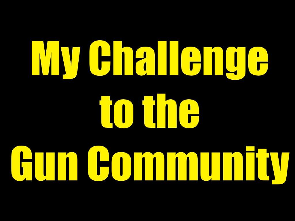My Challenge To The Gun Community