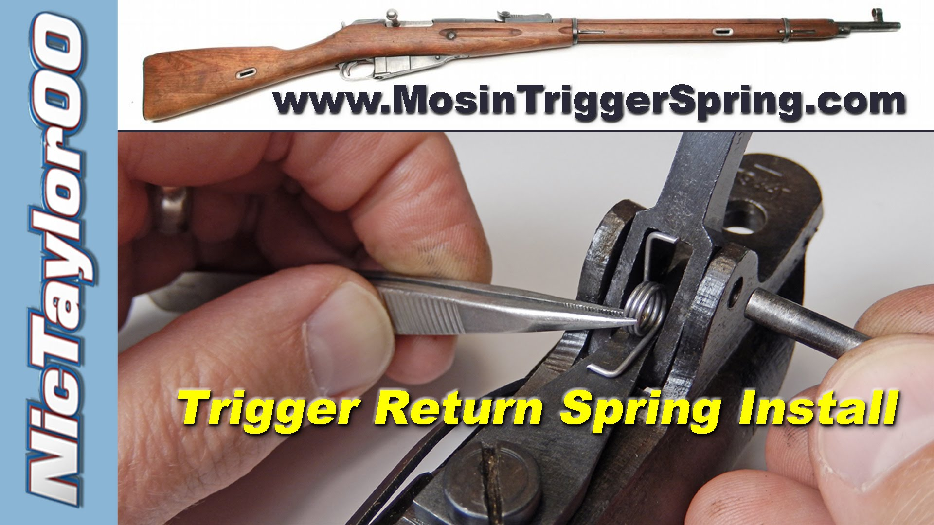 Mosin Nagant Trigger Return Spring Installation -  Simple Upgrade