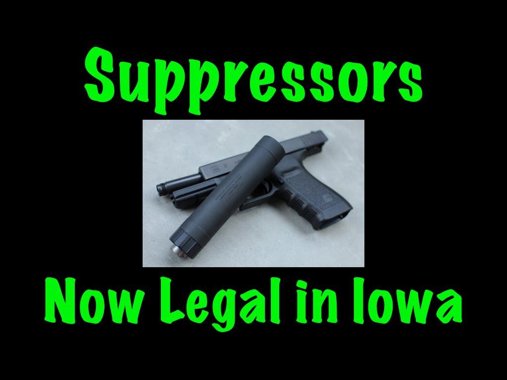 Suppressors Now Legal In Iowa