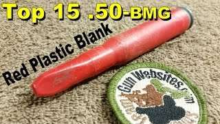 Top 15 (.50-bmg)  Norwegian Red Plastic Blank