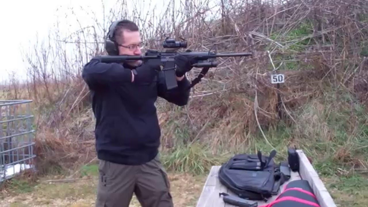 2015-12-12 Ruger AR-556 Michael Off Hand 30 rounds at 50 yards