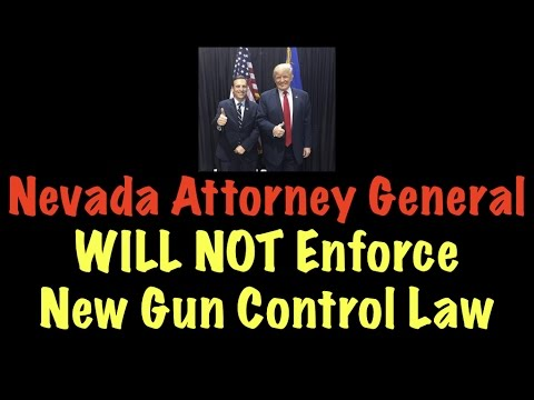 Nevada AG Will NOT Enforce New Gun Control Law