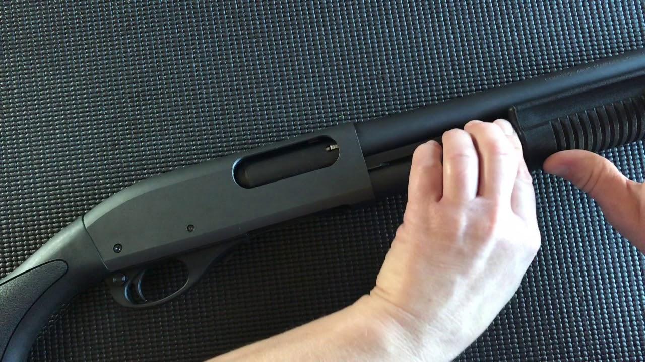 Remington 870 Tactical 12ga Shotgun while totally blind part one Description/Safety Check