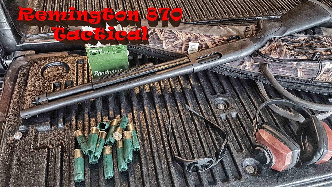 Shooting the Remington 870 Tactical