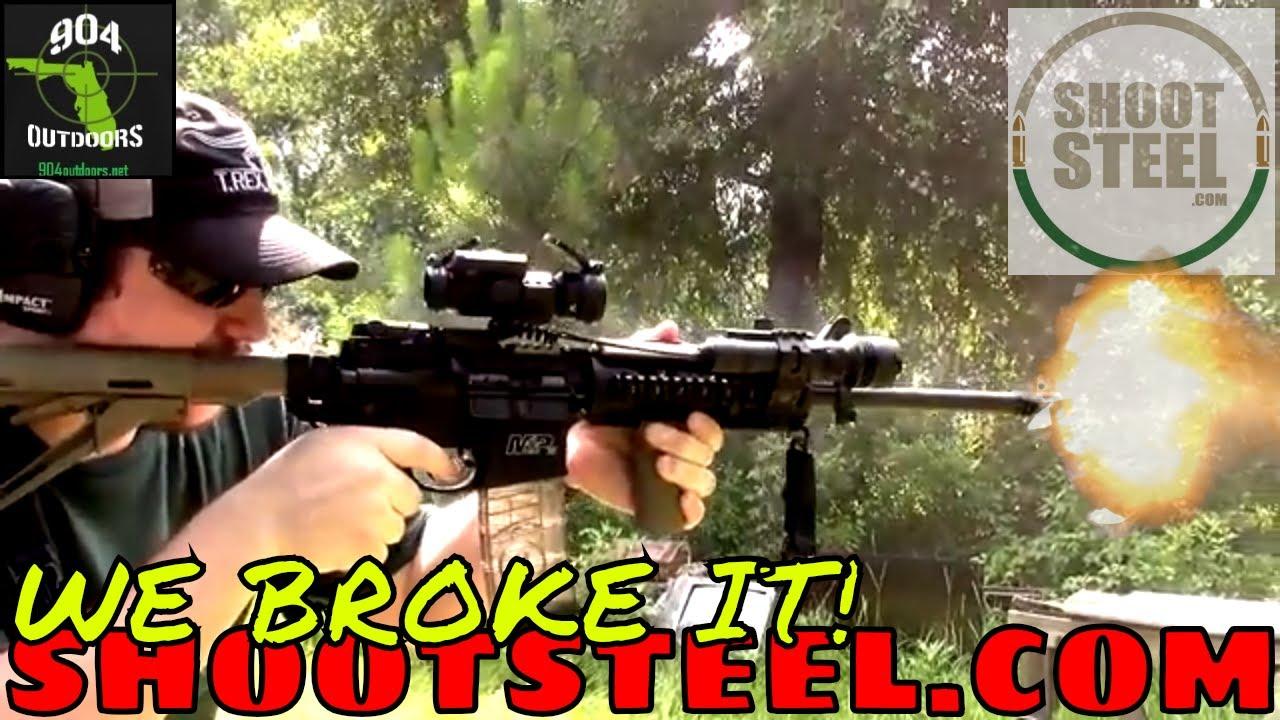 We Broke It! - Testing a ShootSteel.com AR500 Target