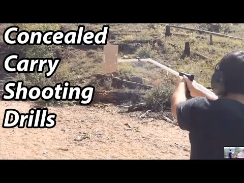 A day of concealed carry training drills - with cheap (ghetto) training tools