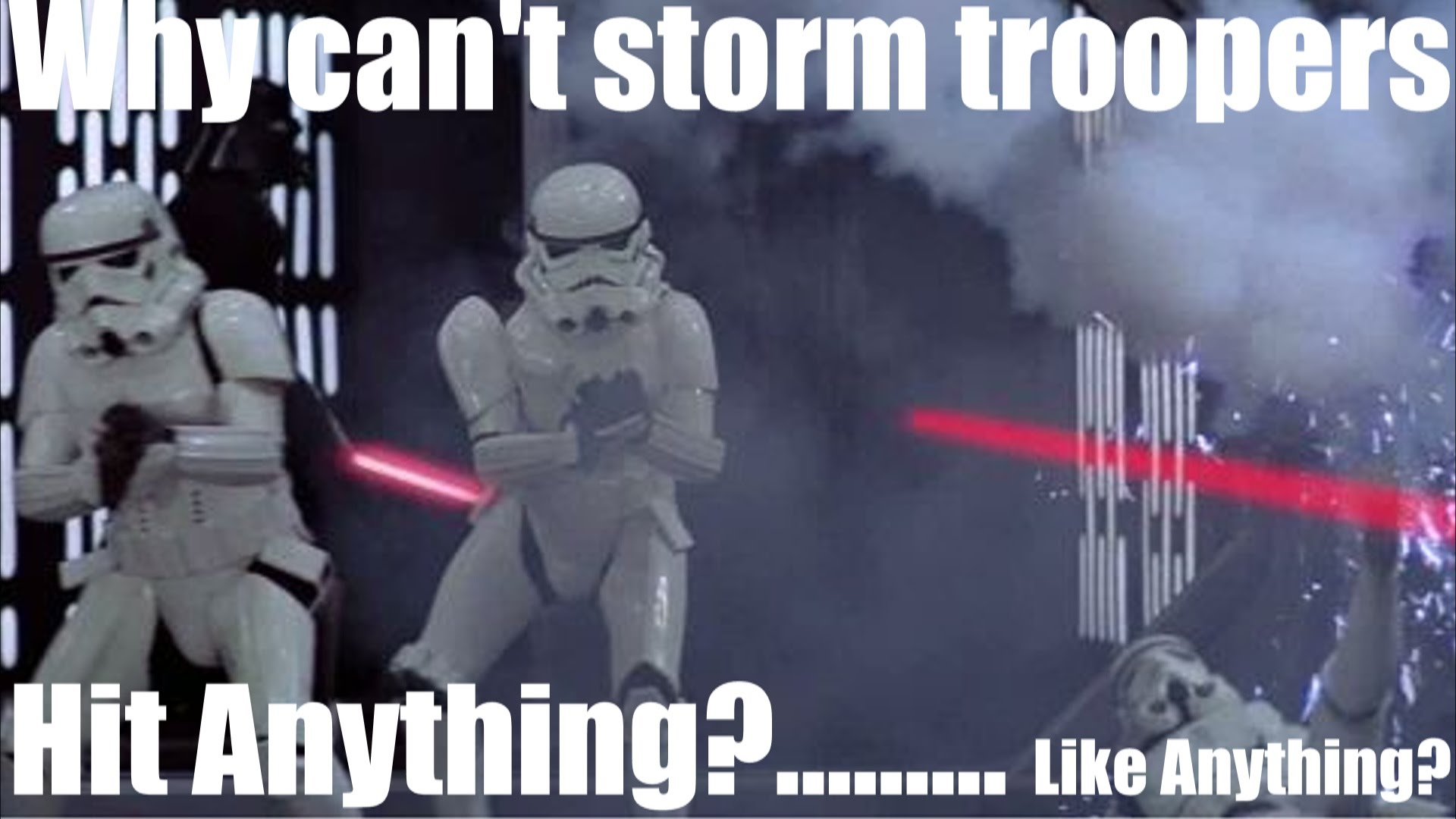 Why Can't storm troopers hit anything? Maybe because they don't aim!