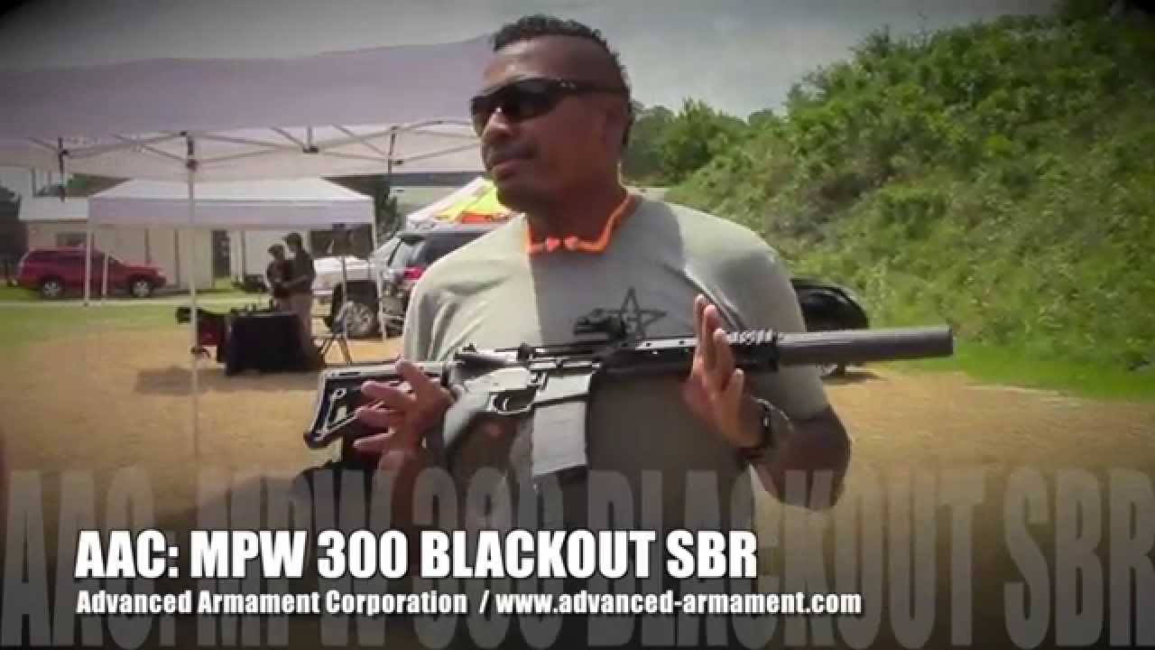 AAC MPW 300 AAC BLACKOUT 9 inch SBR with 762-SDN-6 Silencer
