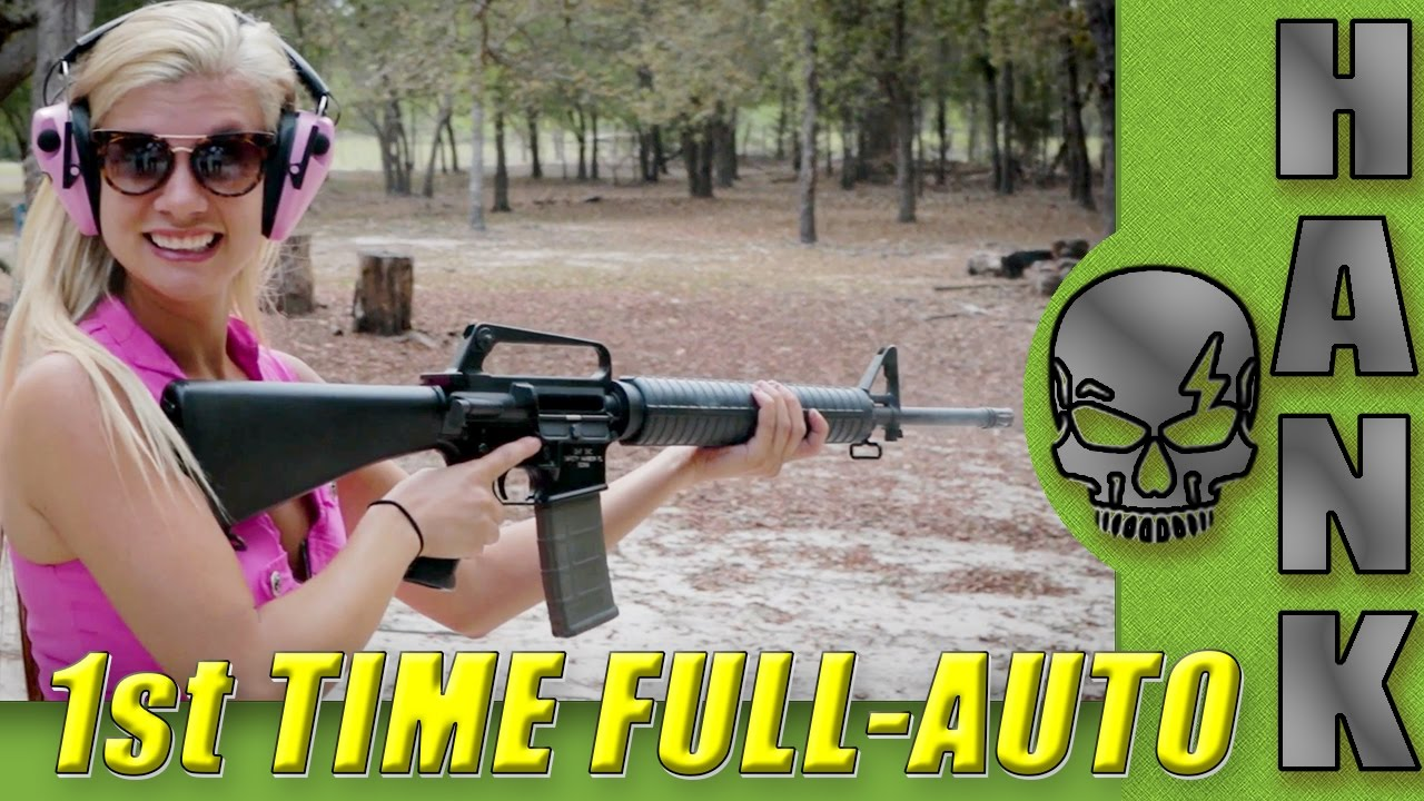 American Gun Chic's 1st Time Shooting Full Auto Machine Guns