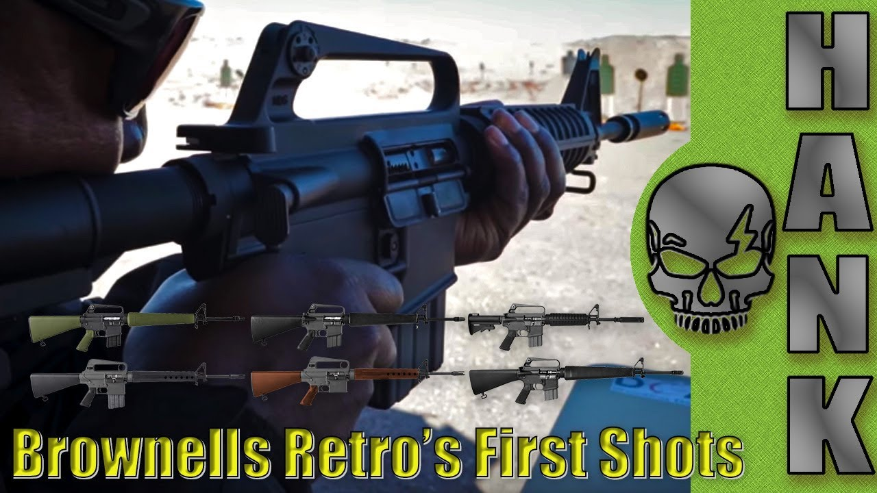 Brownells Retro AR-15 Rifles M16A1, XM177, XM16E1, and 601 First Shots