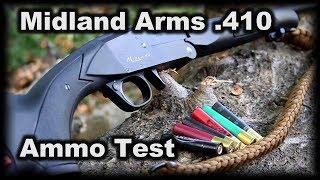 Midland Arms 410 Testing Various Ammo