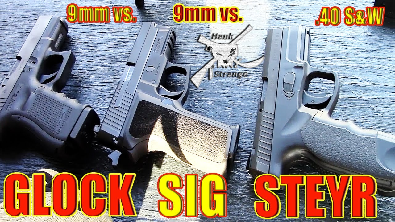Compact Handgun Steyr M40 A1 vs. Glock 19 vs. Sig P229 Shootout / Review