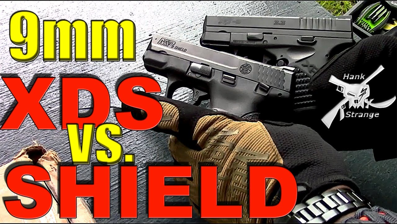 Springfield Armory XDS 9MM VS. S&W SHIELD 9MM Shooting Review
