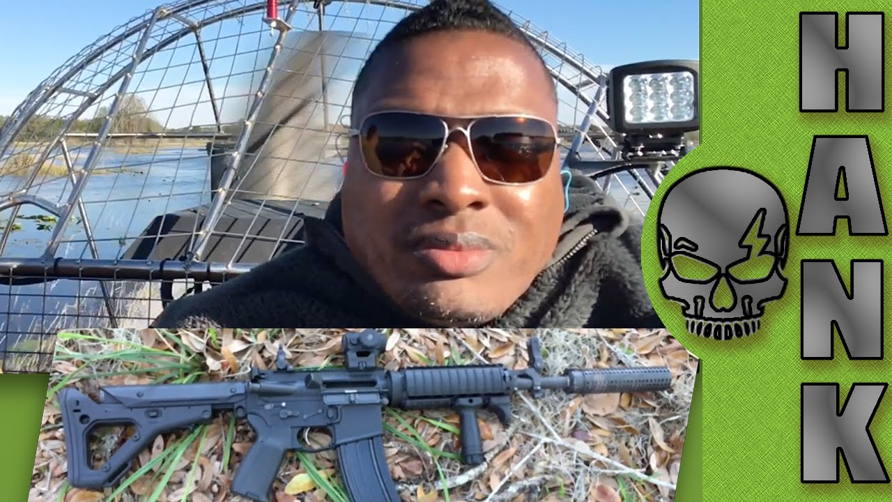 First AirBoat Ride Plus Knights Armament SR-16
