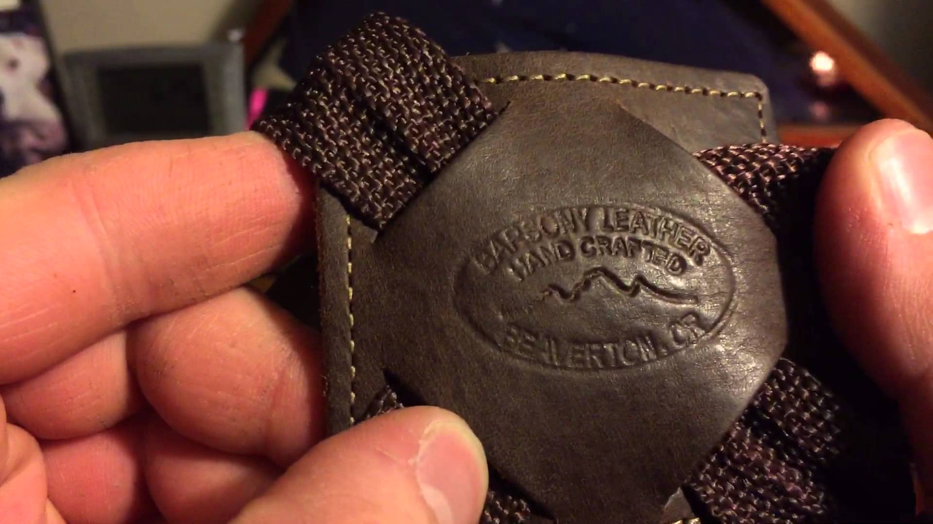 Review of Barsony leather vertical shoulder holster 6 inch revolver part one