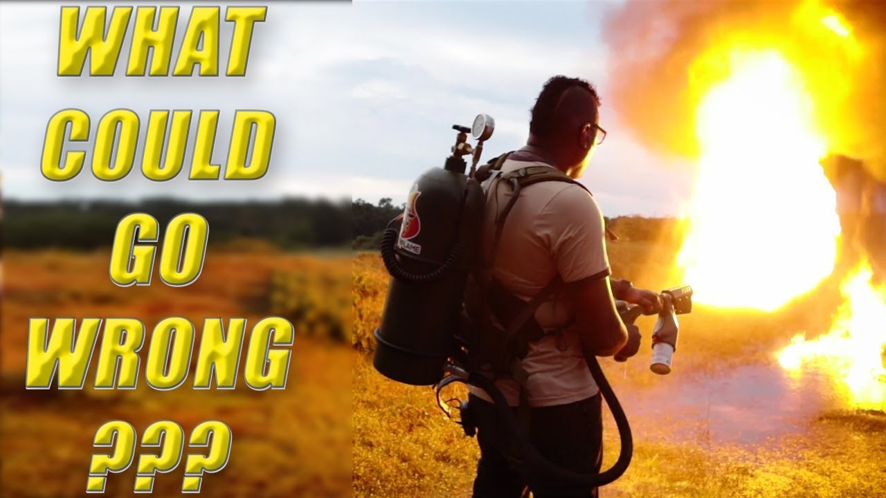 Backpack Flamethrower: What Could Go Wrong? Convoy Across America Ares Firearms Training