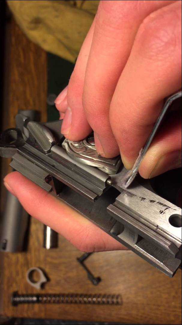 How to video Removing idiot scratch from stainless colt 1911
