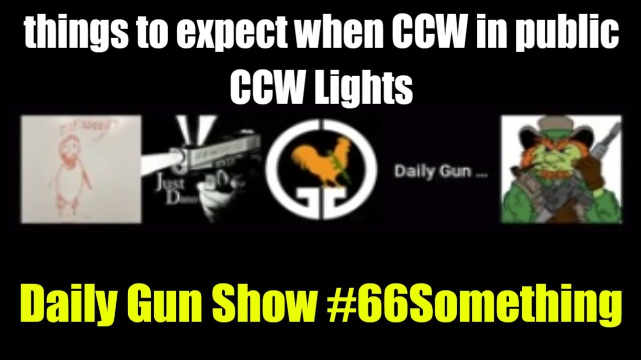 things to expect when CCW in public - CCW Lights - Daily Gun Show #66Something
