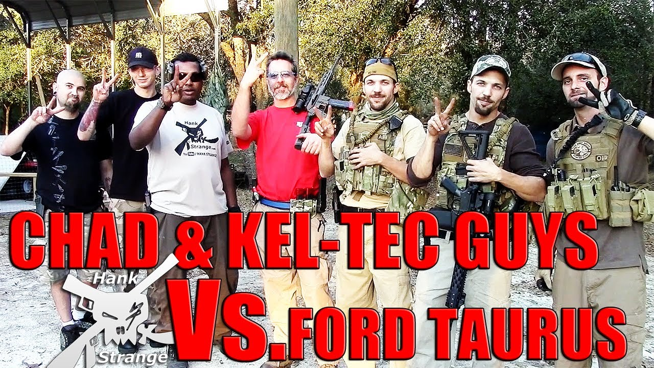 Ford Taurus Vs. Kel Tec Guys Hank Strange Hacienda Shootout with Tannerite Part Two