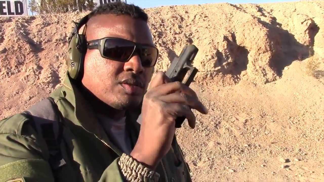 Shooting New Glock 41 .45 ACP  & Glock 42 380 ACP Pistols Shot Show 2014 Media Day At The Range