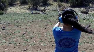 Mari Shoots a .44 Magnum for the First Time