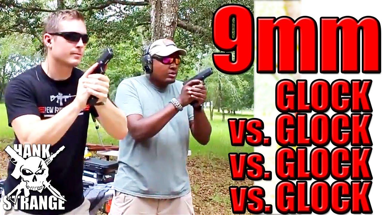 Glock vs. Glock 9mm Showdown G26 G19 G17 & G34