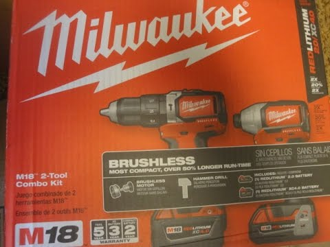 Unboxing & Setting up the Milwaukee Brushless 18 volt Drill & Impact Driver