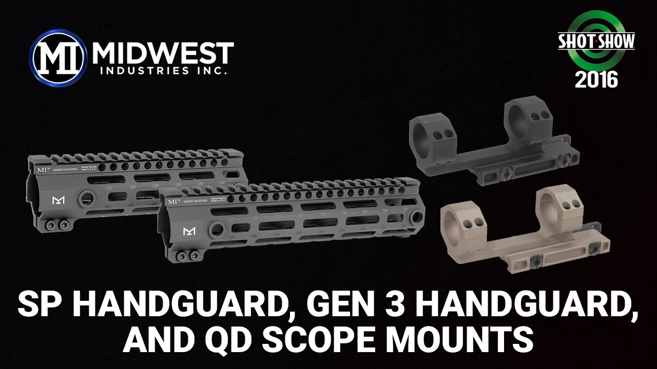 Midwest Industries AR/AK Mounts & Gen 3 Handguards - SHOT
