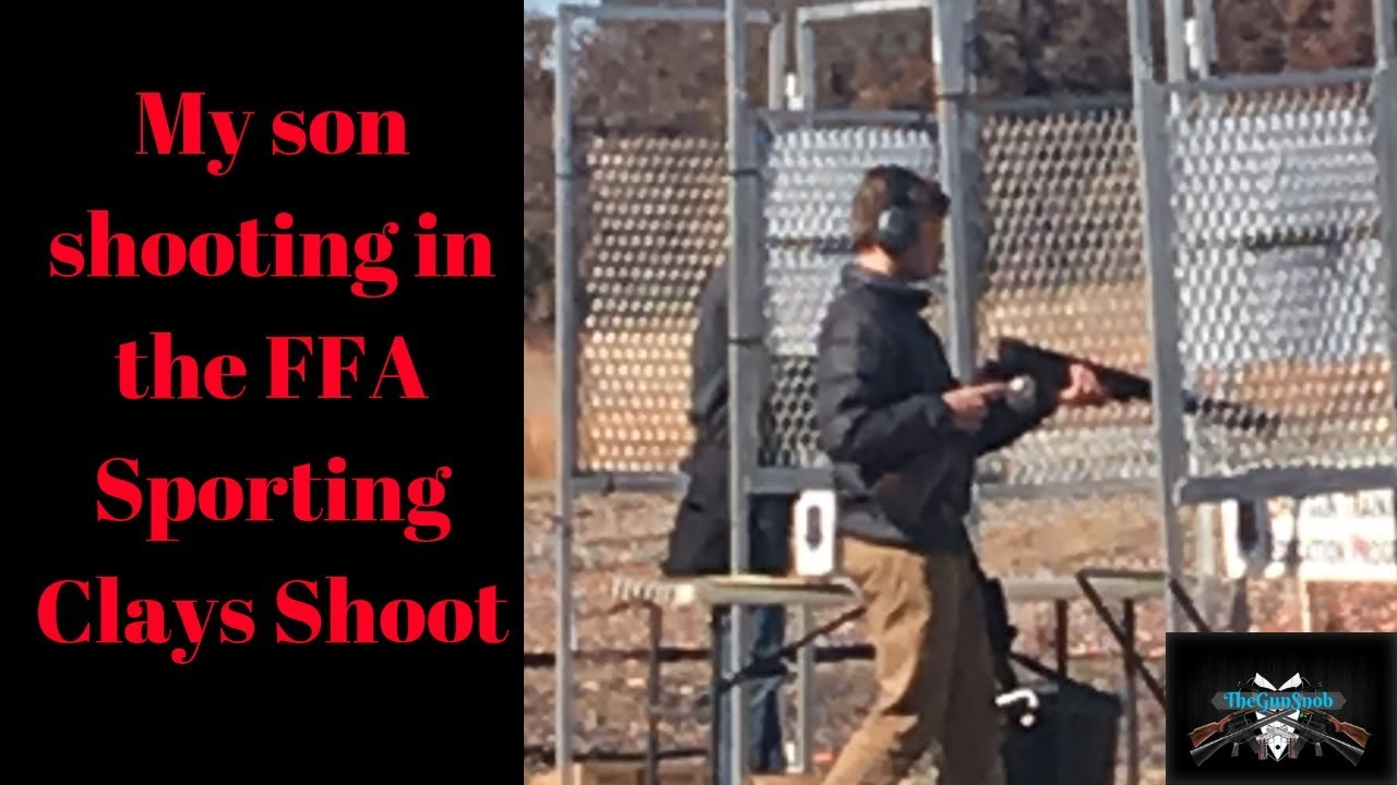 My Son Braiden at the FFA state sporting clays shoot only his 2nd competition.