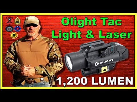 Olight PL-2RL BALDR Tactical Light with Red Laser - Tabletop and Range Review!