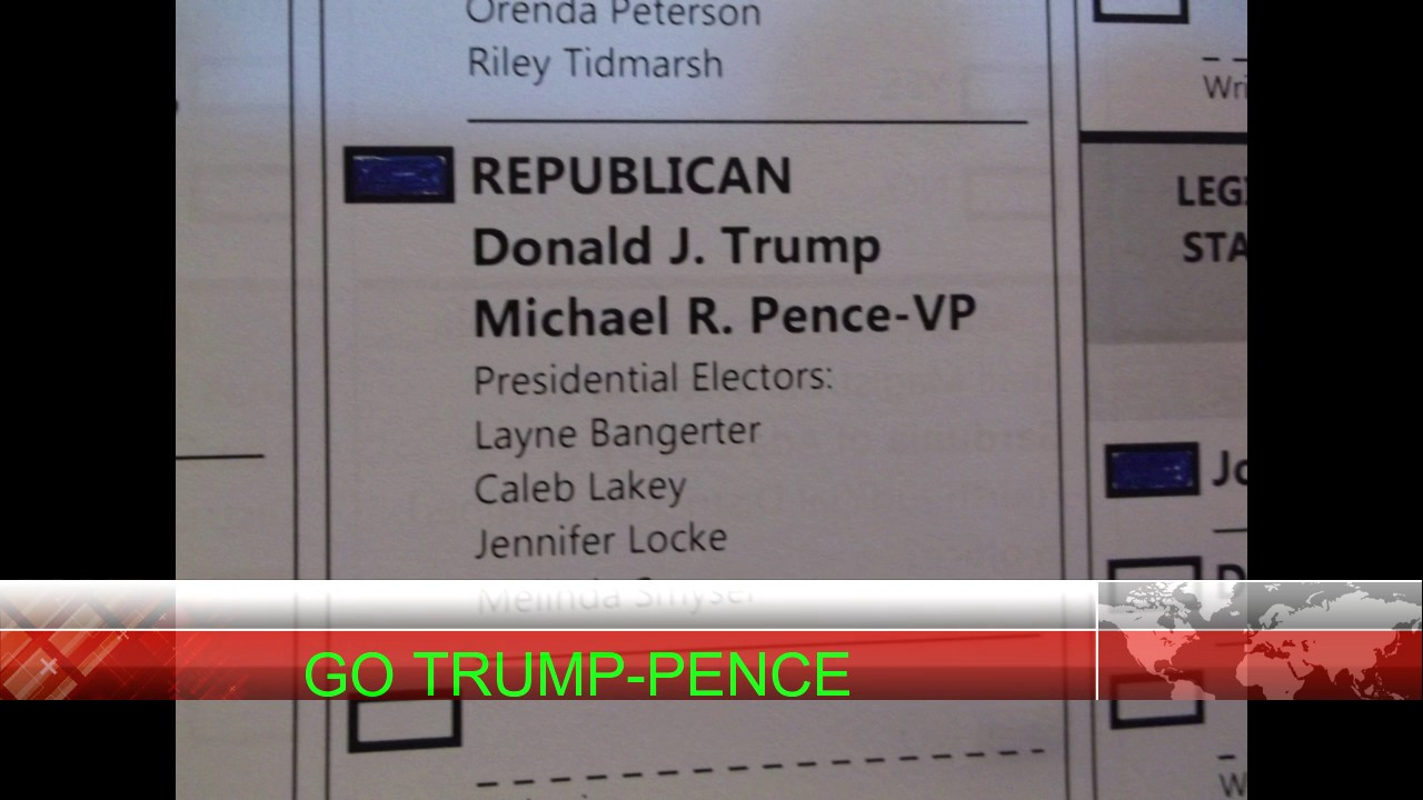 Mr. and Mrs. Highboy Have Voted, GO TRUMP-PENCE!!!