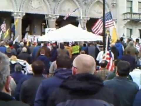 CT 2nd Amendment rally in Hartford on 2014-04-05 - National anthem