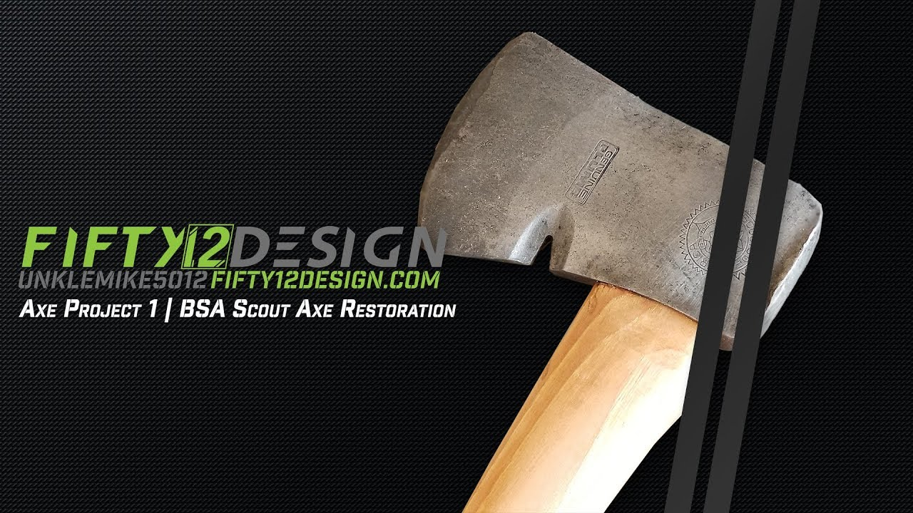 BSA Scout Axe   Handle Finished
