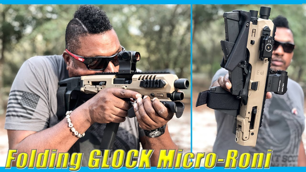 FOLDING GLOCK Micro-Roni Stabilizer - VIPER Pistol Carbine Full Conceal