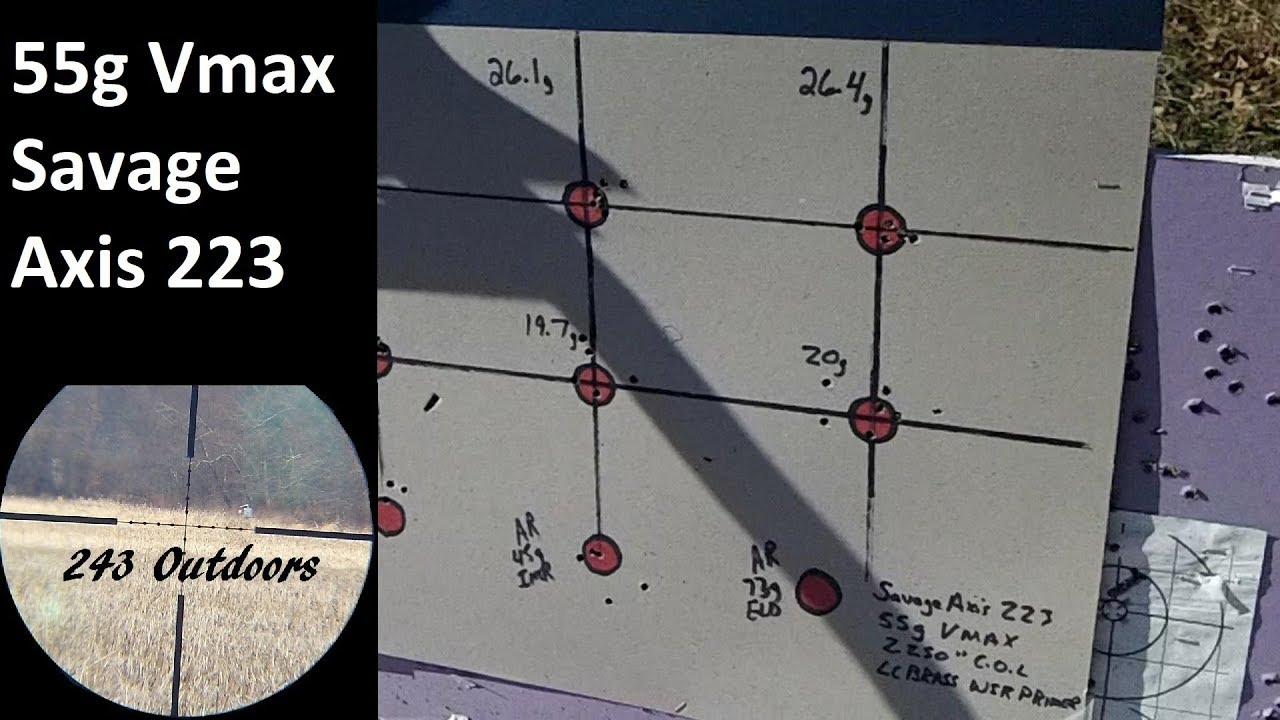 223 Rem 55g Vmax; Varget & IMR 4198