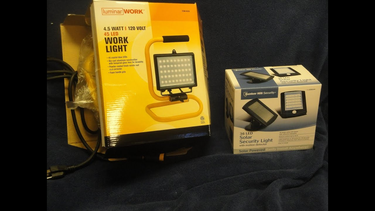 Review of Two Harbor Freight LED Lights