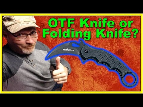 Which is Faster? OTF (Out the Front) or Folding knife? Watch and See!