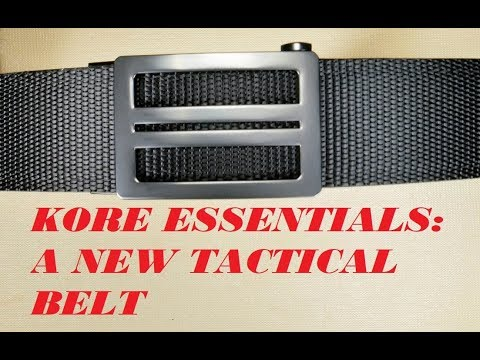 KORE ESSENTIALS: A TACTICAL BELT FOR CONCEALED CARRY