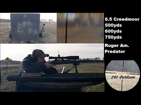6.5 Creedmoor at 500 600 750 Yards