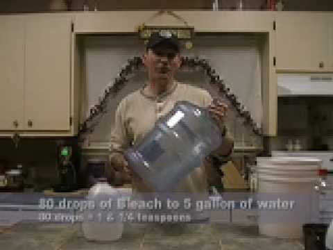 How to Treat & Store Water for Emergencies pt1