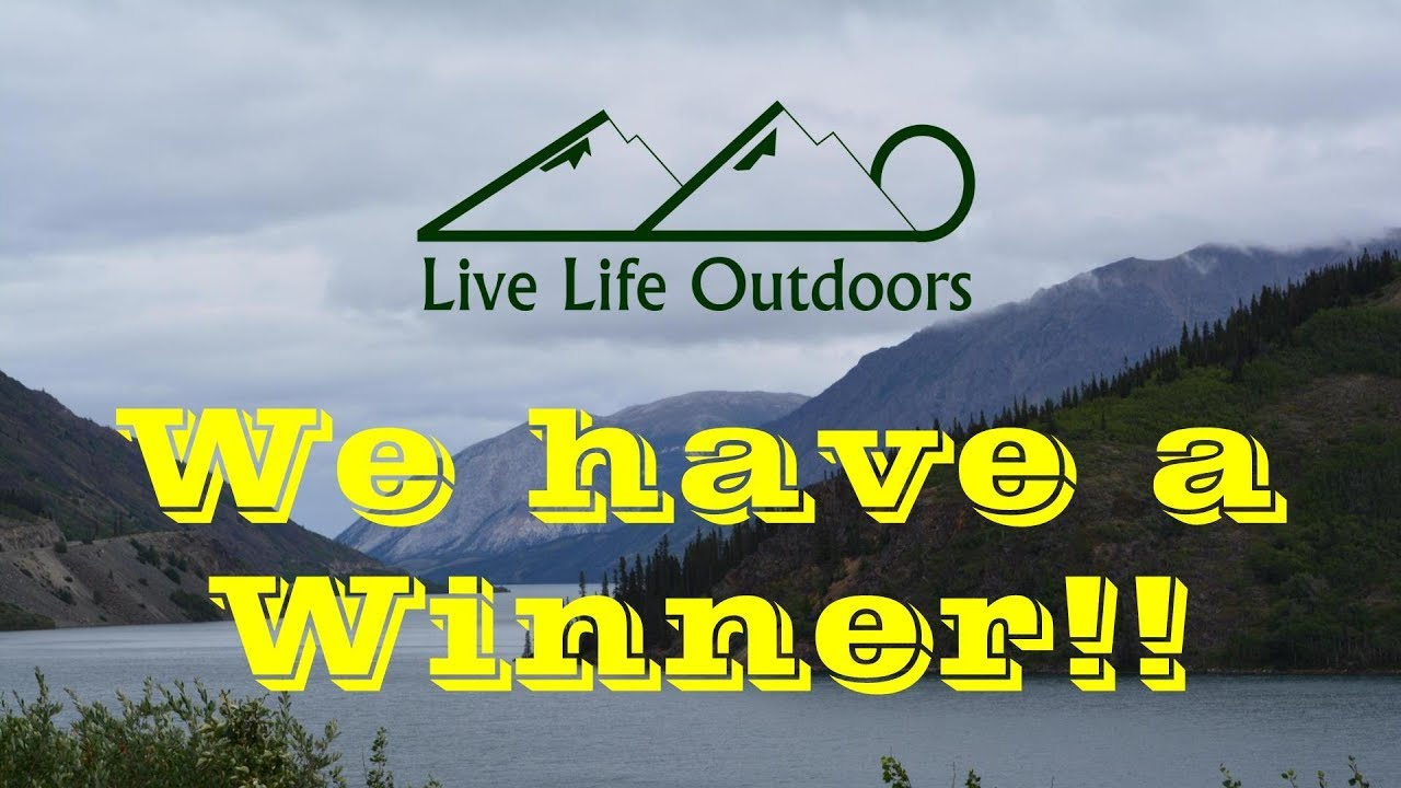 Winner of the Live Life Outdoors 3,000 Subscriber T-Shirt Giveaway!