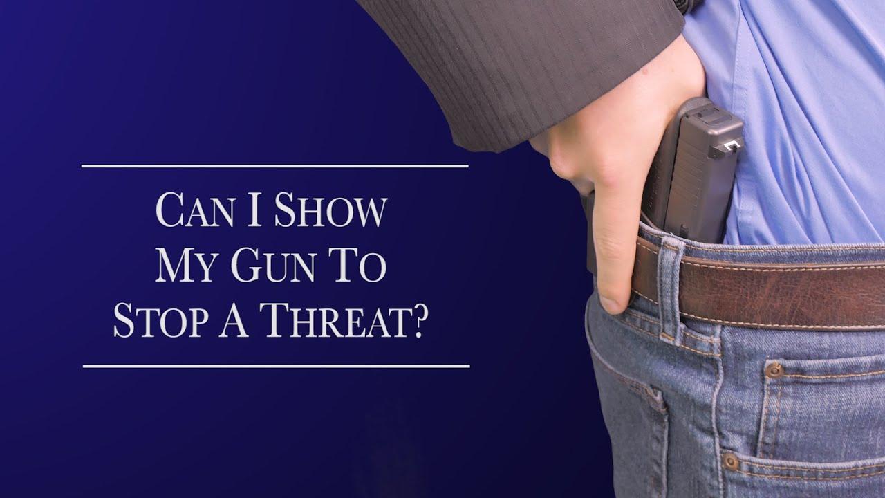 Can I show my gun to stop a threat? -Georgia