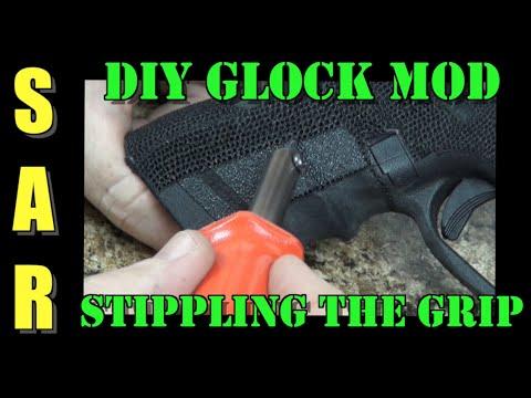 DIY Glock Modification: Stipple the Grip (stippling is not hard)