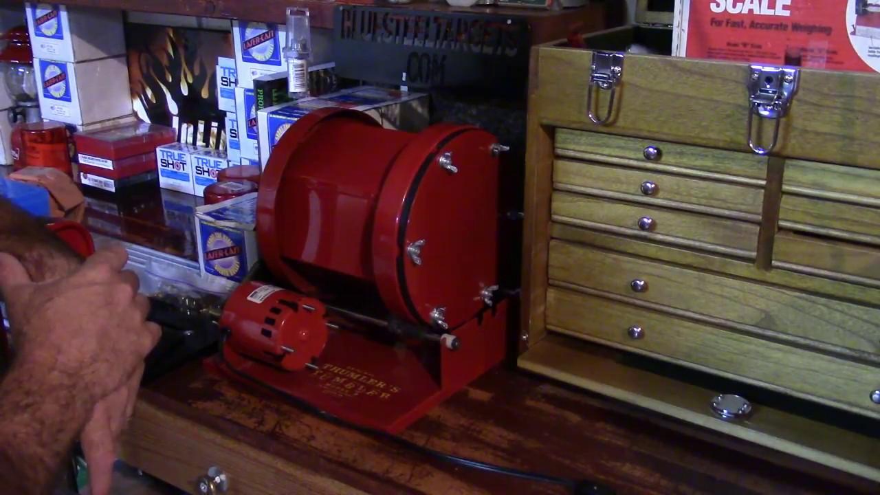 Redding Reloading, BRASS REFIRE, Range Case Prep, Video 19, Thumler's Tumbler without S.S. Pins