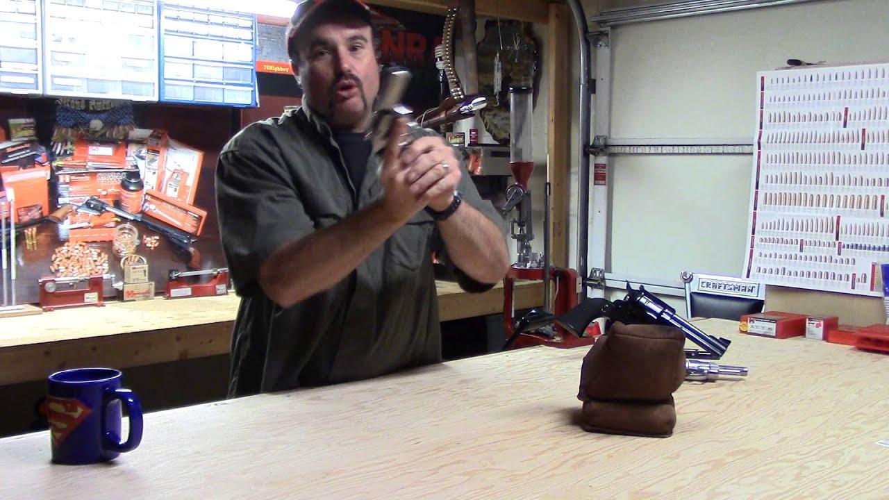 Beginning Reloading, Video 51, Bench Resting the Ruger Blackhawk 357 Magnum