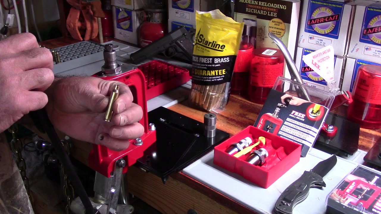 Lee Beginning Reloading, 223/5.56, Video 11, Setting F.L. Resize Die for Neck Expander/Uniformity
