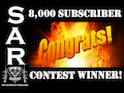 The 8,000 Subscriber Contest Winner!