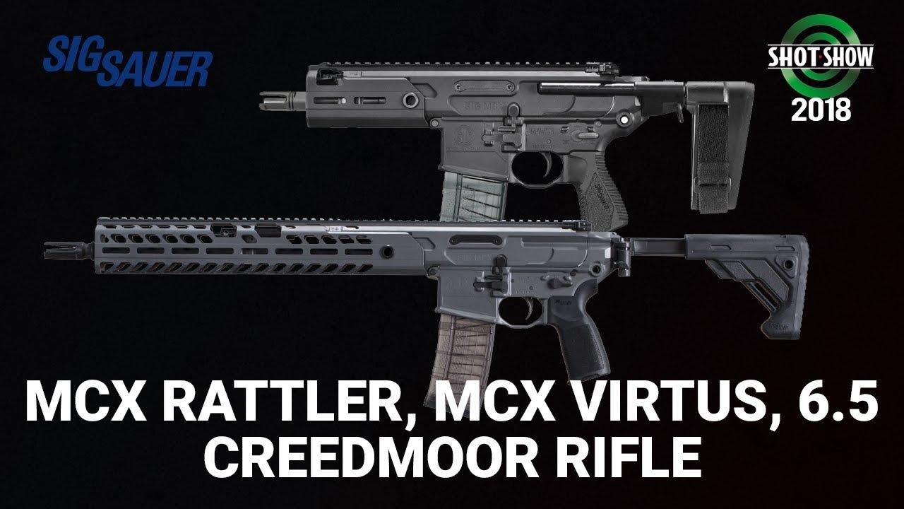 Sig MCX Rattler, MCX Virtus, 6.5 Creedmor - SHOT Show 2018 Day 3